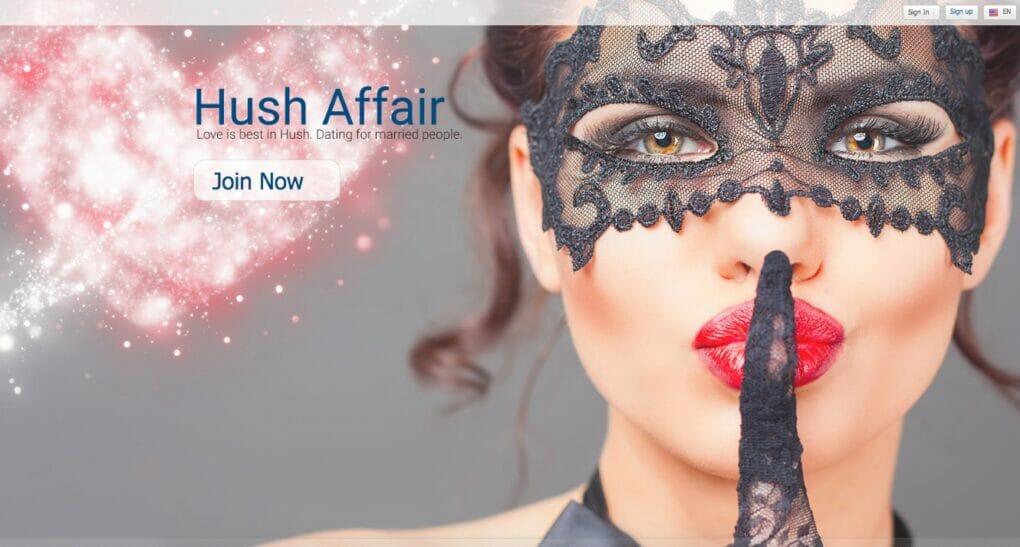 HushAffairs main page