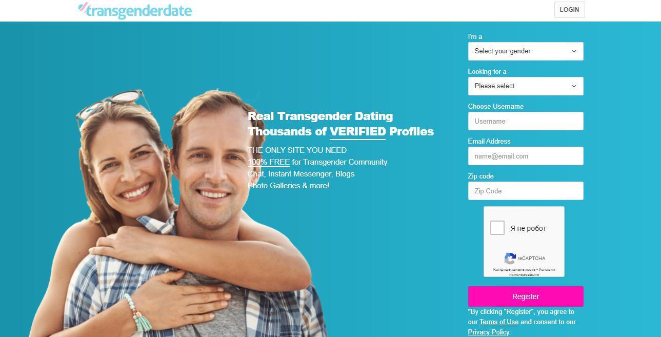 TransgenderDate main page