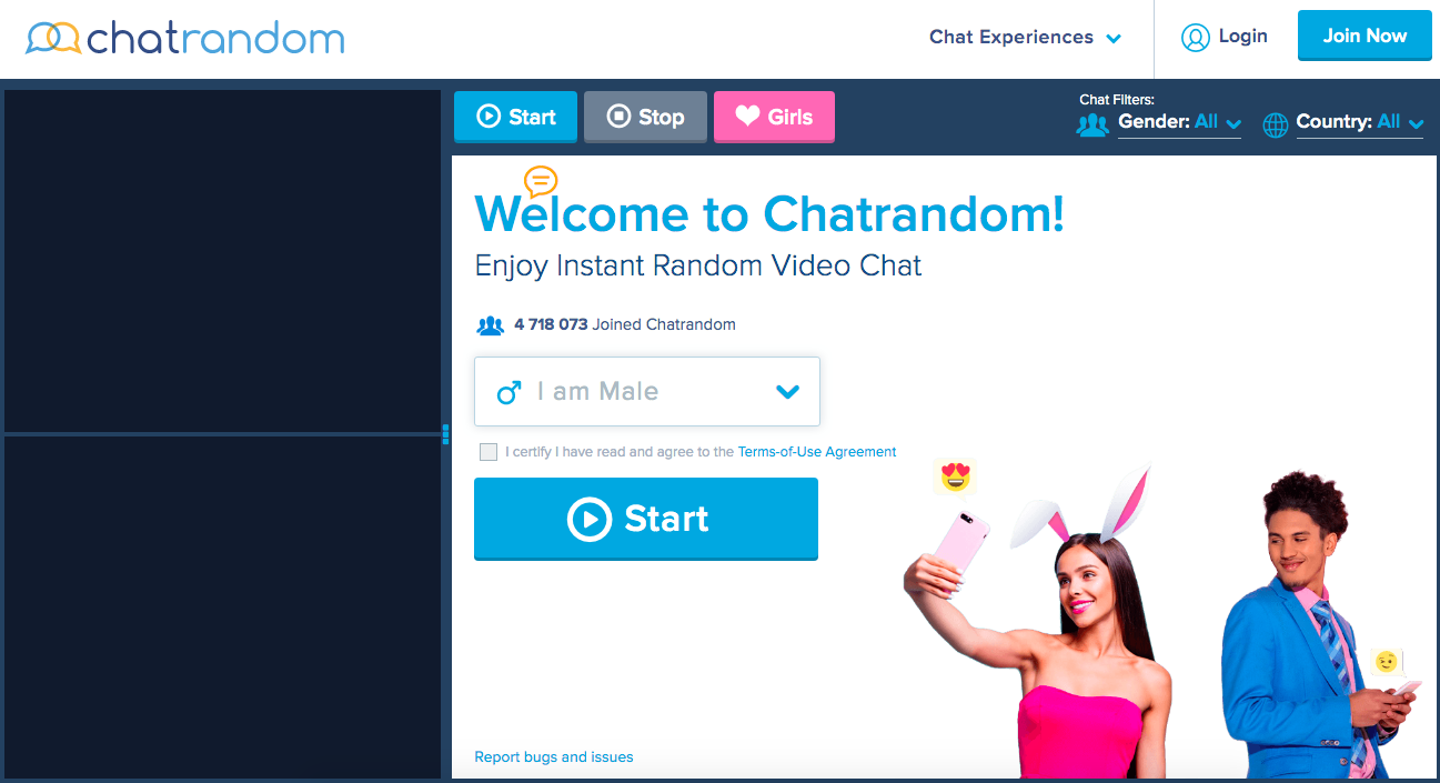 main page ChatRandom