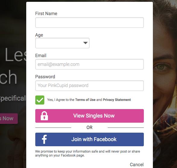 create account Pinkcupid