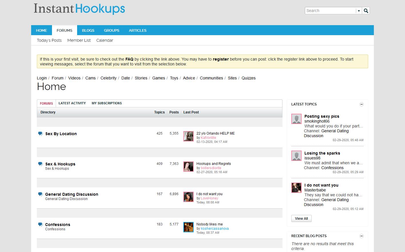 forums Instanthookup