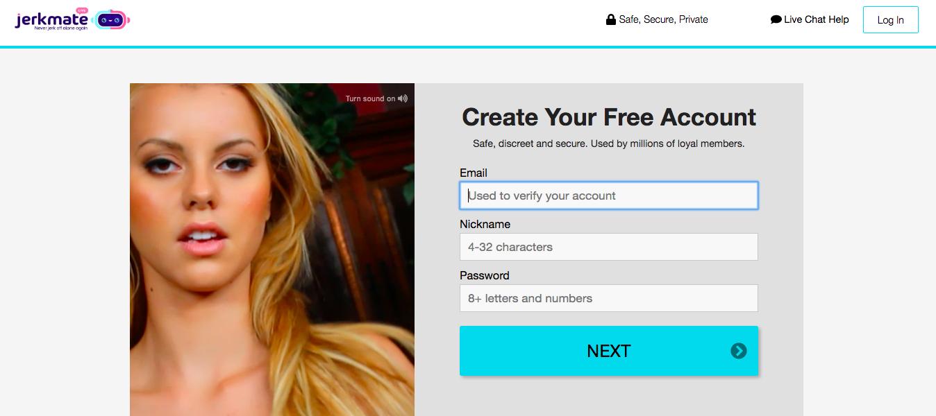 create account Jerkmate.com