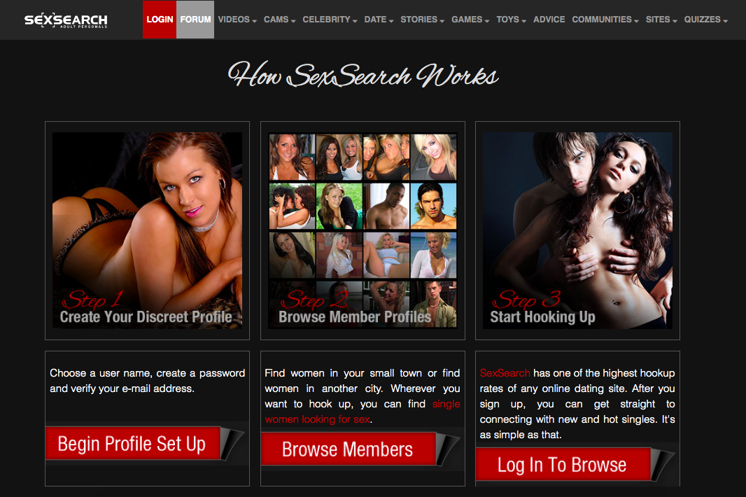 how SexSearch works