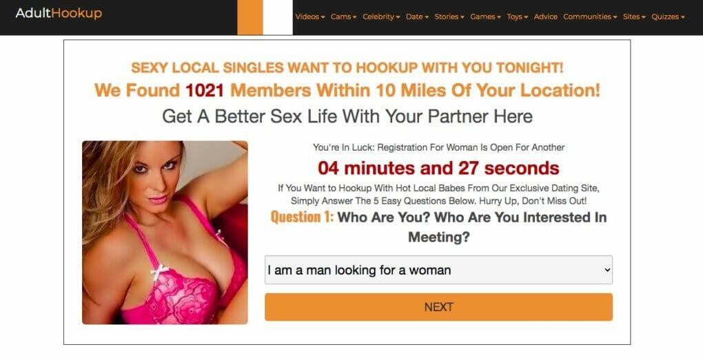 Adulthookup الصفحة الرئيسية