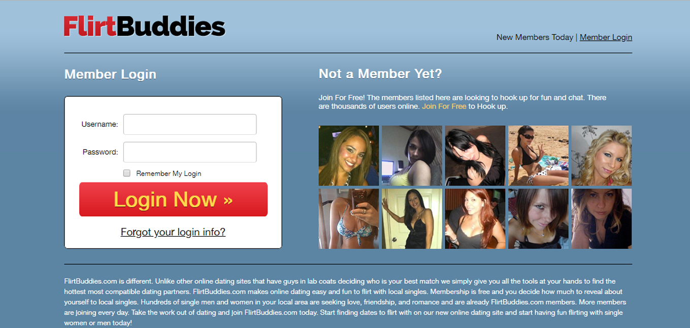 FlirtBuddies create account